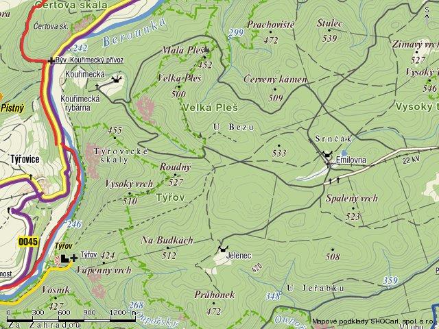 mapa-krivoklatsko