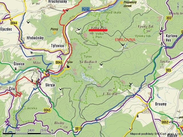 mapa-krivoklatsko2