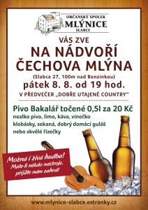 Plakát na akci OS Mlýnice