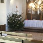 Vánoční strom v kapli